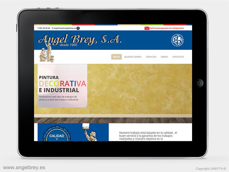 Desarrollo página web Pinturas Ángel Brey-2