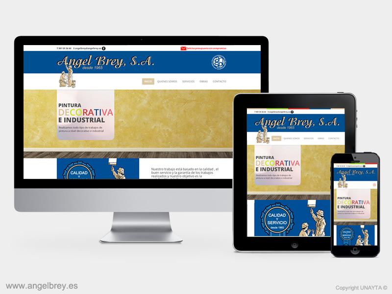 Desarrollo página web Pinturas Ángel Brey