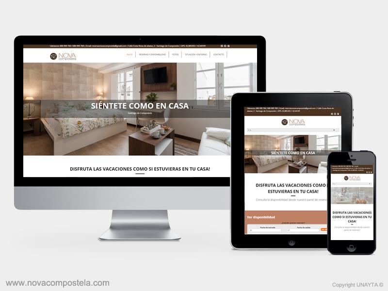 Desarrollo pagina web novacompostela