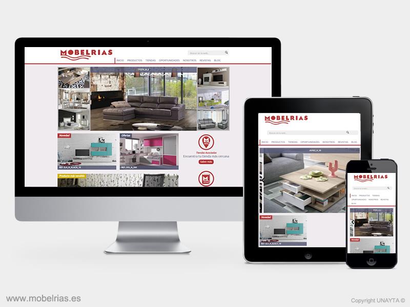 mobelrias, diseño web