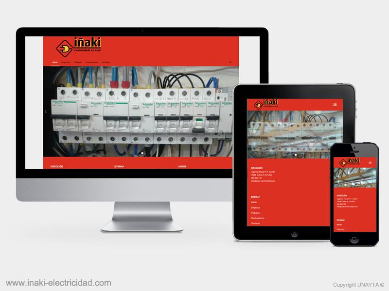 diseño web Iñaki Electricidad